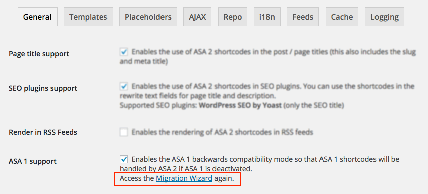 ASA 2 Migration Wizard access again