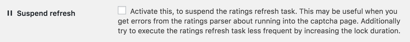 ASA 2 advanced ratings handling suspend refresh