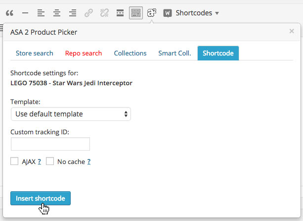productpicker repo search settings