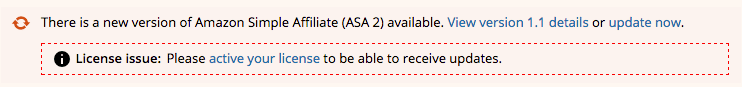ASA 2 update license issue