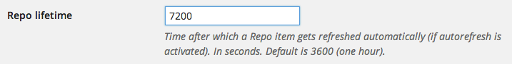 Repo option lifetime